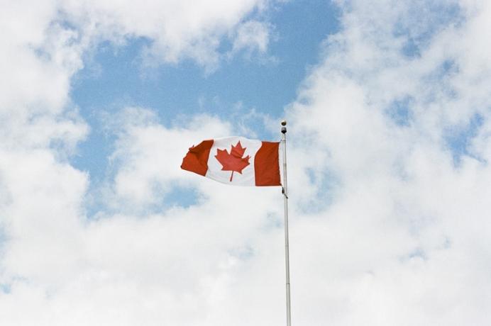 Bandera de Canadá dolar canadiense