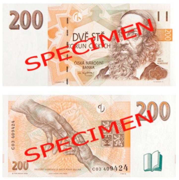 Billete de 200 coronas checas