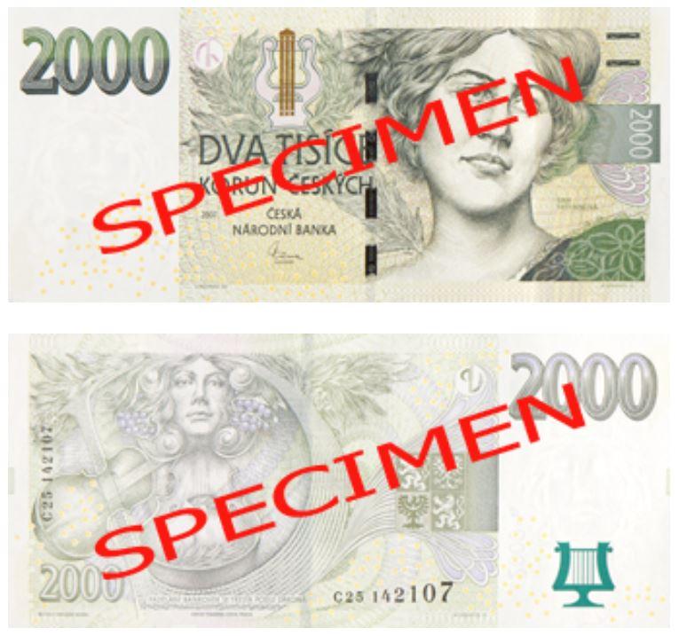 Billete de 2000 coronas checas