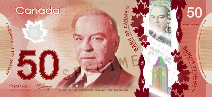 Billete de 50 dolares canadienses