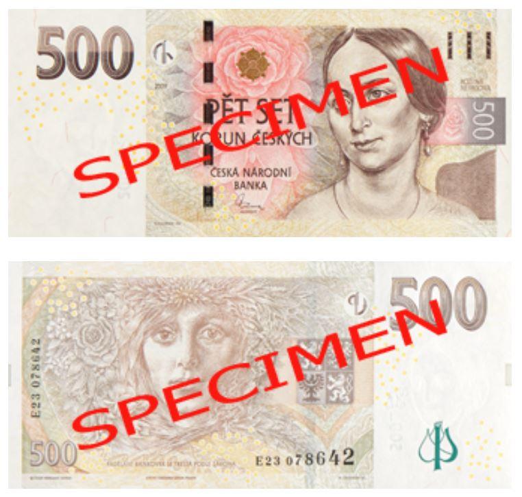 Billete de 500 coronas checas