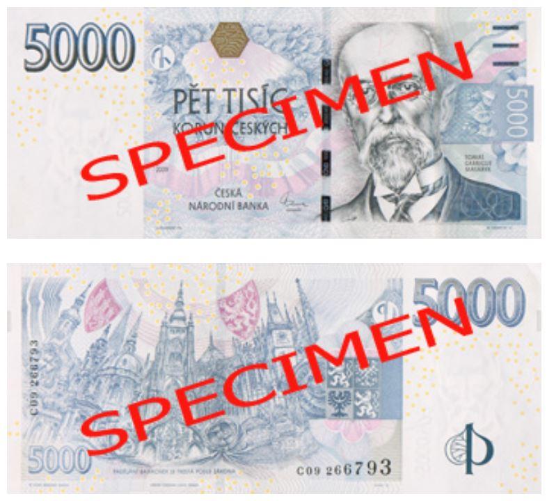 Billete de 5000 coronas checas