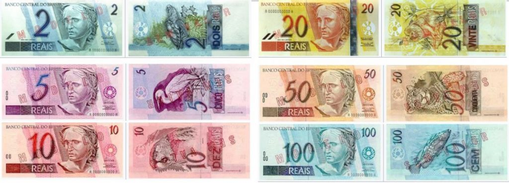 Billetes de reales brasileños