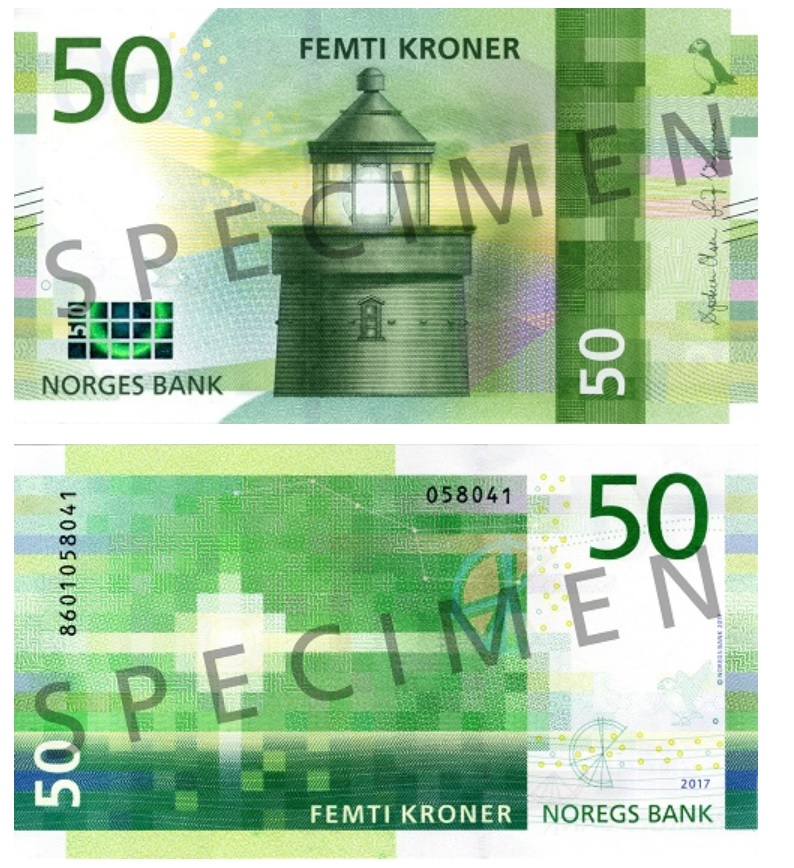 Billete de 50 coronas-noruegas