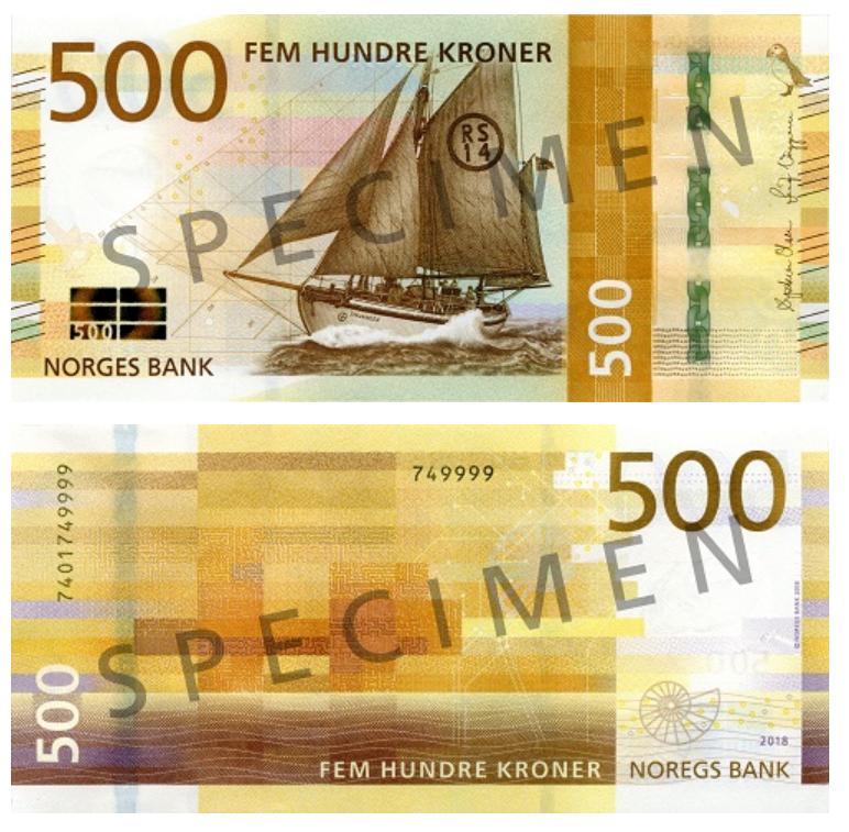 Billete de 500 coronas-noruegas