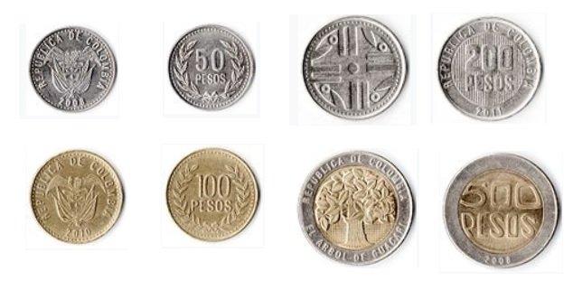 Monedas de peso colombiano