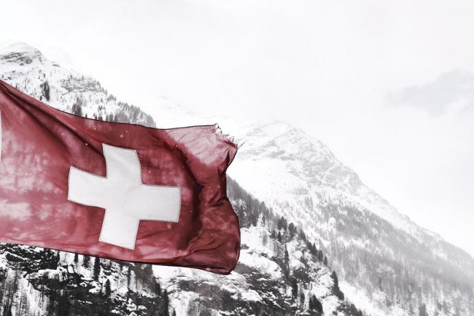 Bandera de Suiza moneda de Suiza franco suizo