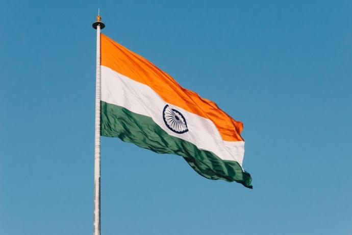 Bandera de la India Rupias indias