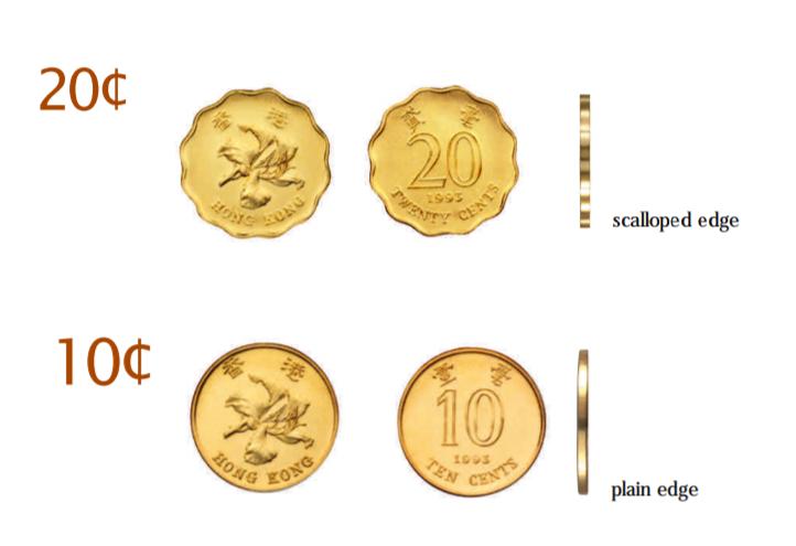Monedas-de-10-y-20-centimos-de-dolar-de-hk