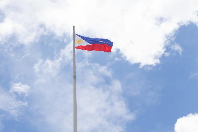 Bandera de Filipinas peso filipino