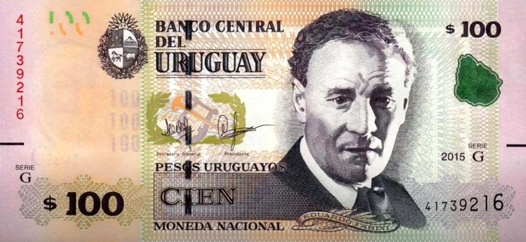 Billete de 100 pesos uruguayos
