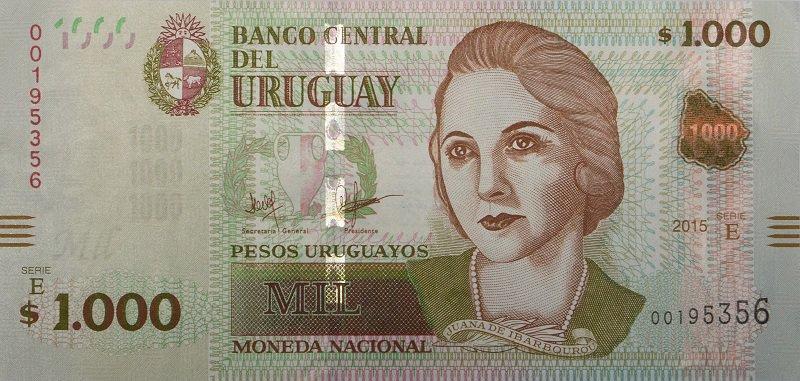 Billete de 1000 pesos uruguayos