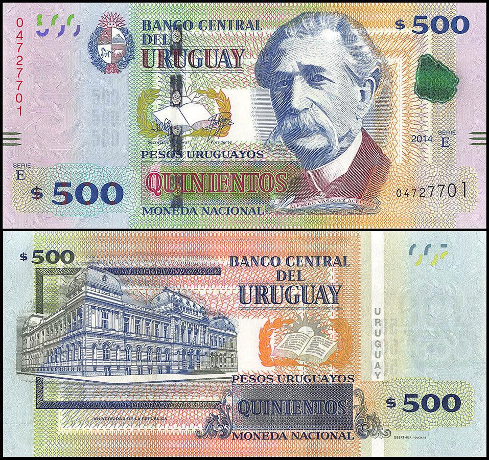 Billete de 500 pesos uruguayos