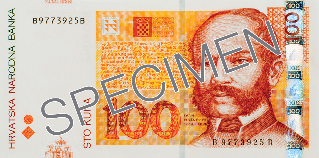 Billete de 100 kunas