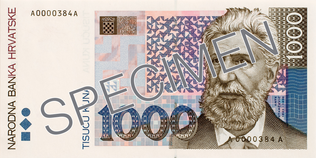 Billete de 1000 kunas