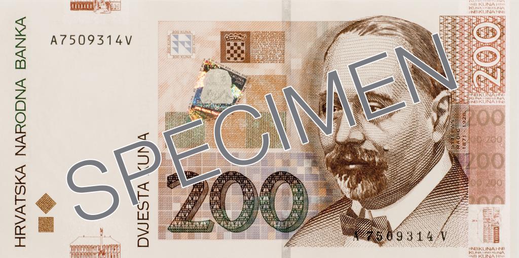 Billete de 200 kunas