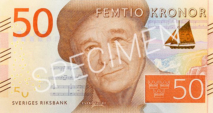Billete de 50 coronas suecas