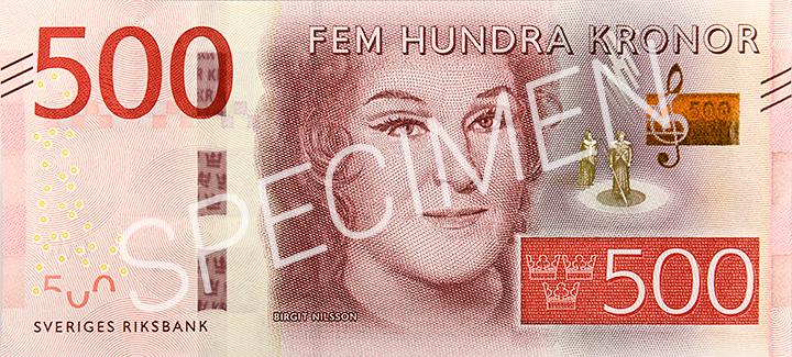 Billete de 500 coronas suecas