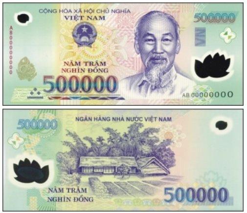 Billete de 500000 dongs vietnamitas