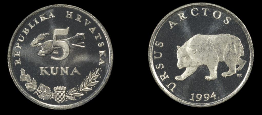Moneda de 5 kunas croatas