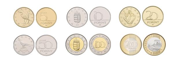Monedas de florín húngaro