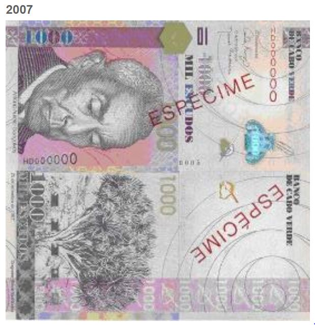 Billete de 1000 escudos caboverdianos