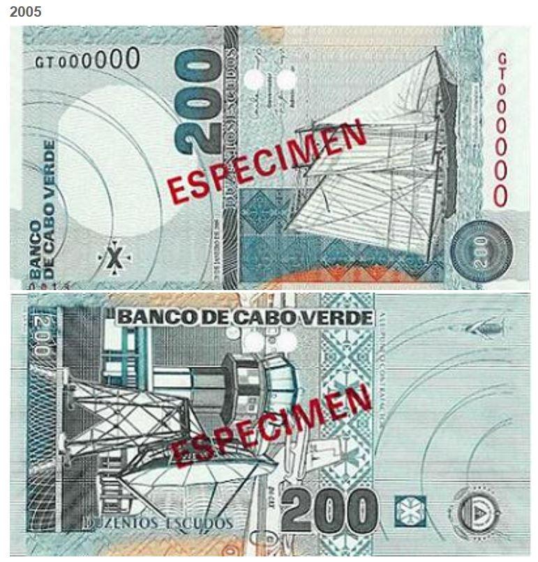Billete de 200 escudos caboverdianos