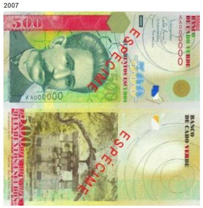 Billete de 500 escudos caboverdianos
