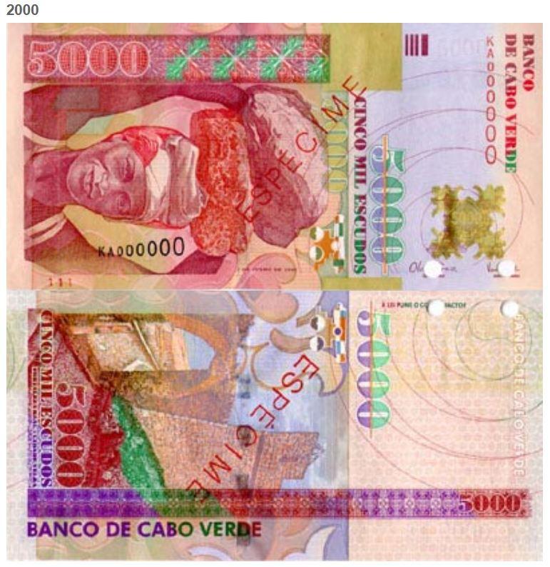 Billete de 5000 escudos caboverdianos