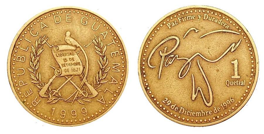 Moneda-de-1-Quetzal-Guatemala