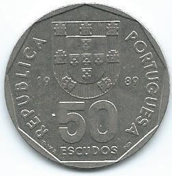 Moneda de 50 escudos de Portugal