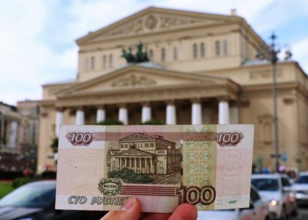 Teatro Bolshoi y billete de 100 rublos (bepowerback.livejournal.com)