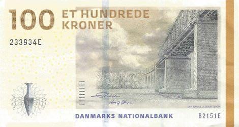 Billete de 100 coronas danesas