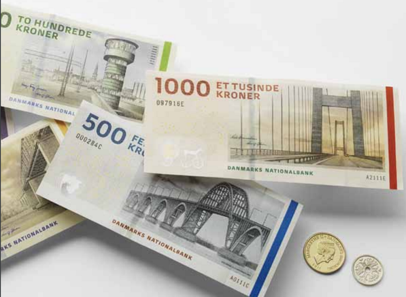 Coronas danesas billetes
