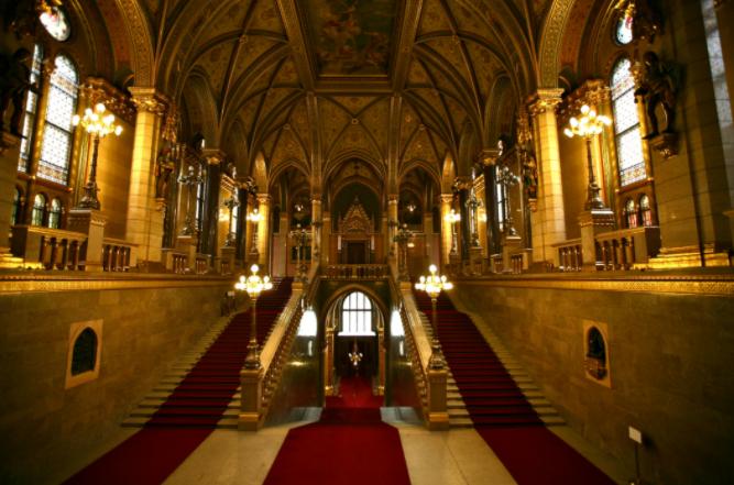 Parlamento de Budapest detalle interior