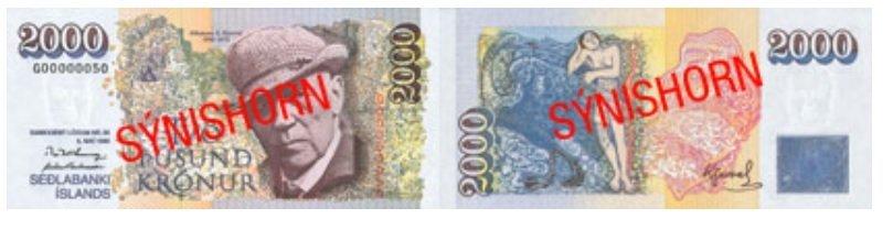 Billete de 2.000 coronas islandesas