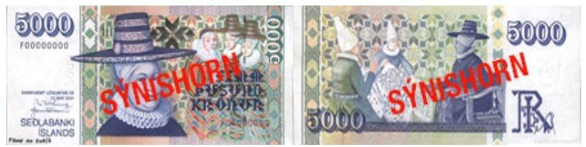 Billete de 5.000 coronas islandesas