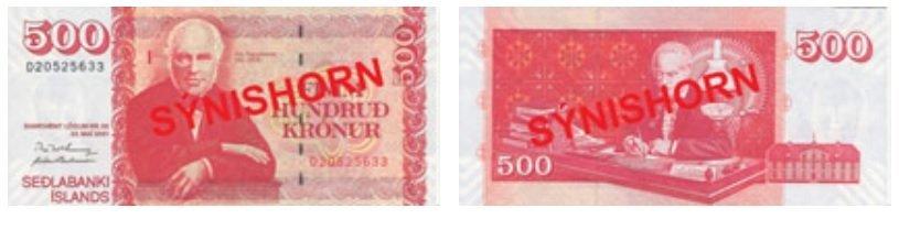 Billete de 500 coronas islandesas