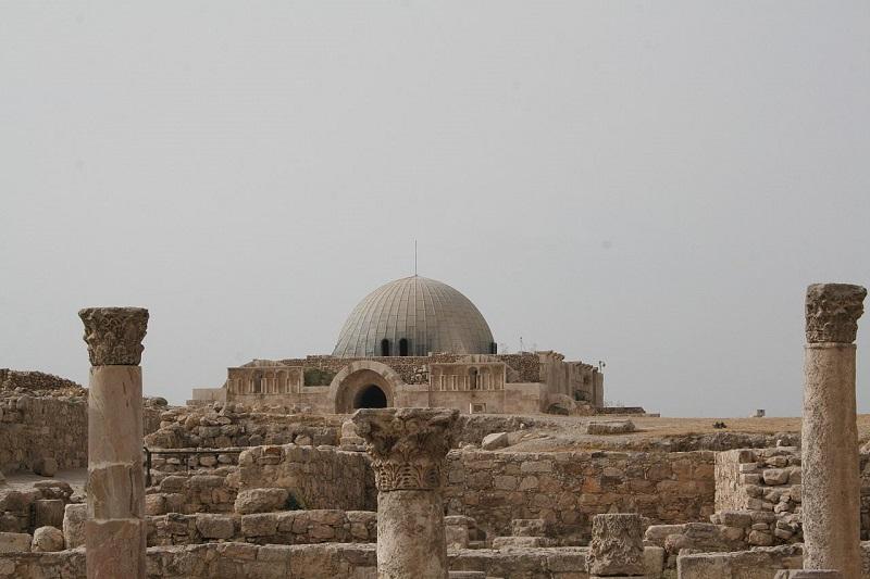 Ciudadela de Ammán con iglesia bizantina
