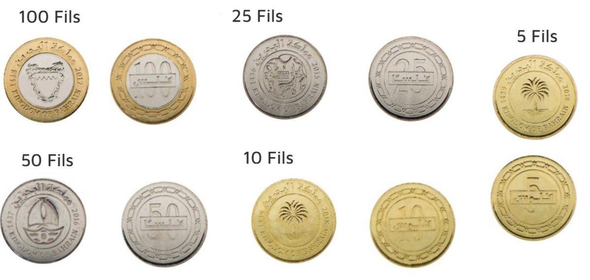 Monedas de dinar de Barein