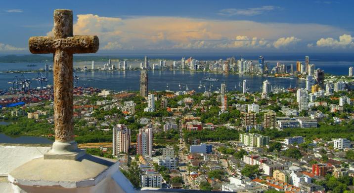 Vistas de Cartagena desde el Cerro de la Popa