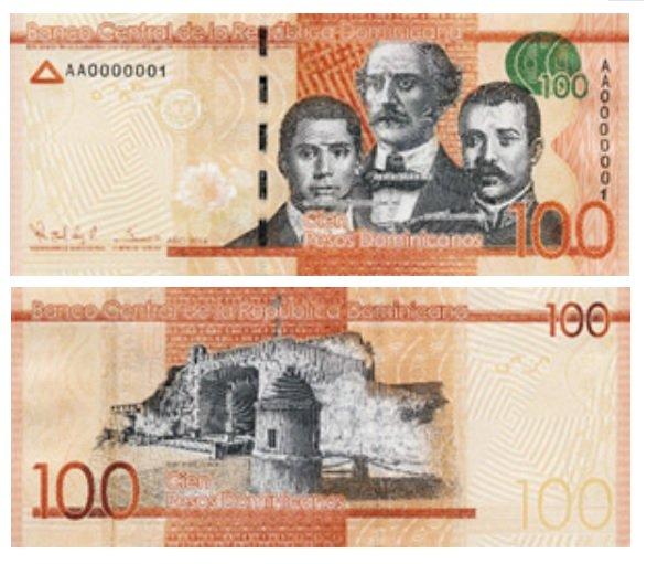 Billete de 100 pesos dominicanos