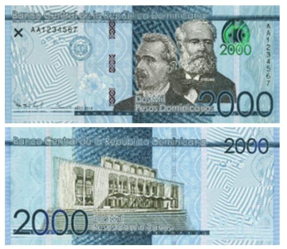 Billete de 2000 pesos dominicanos