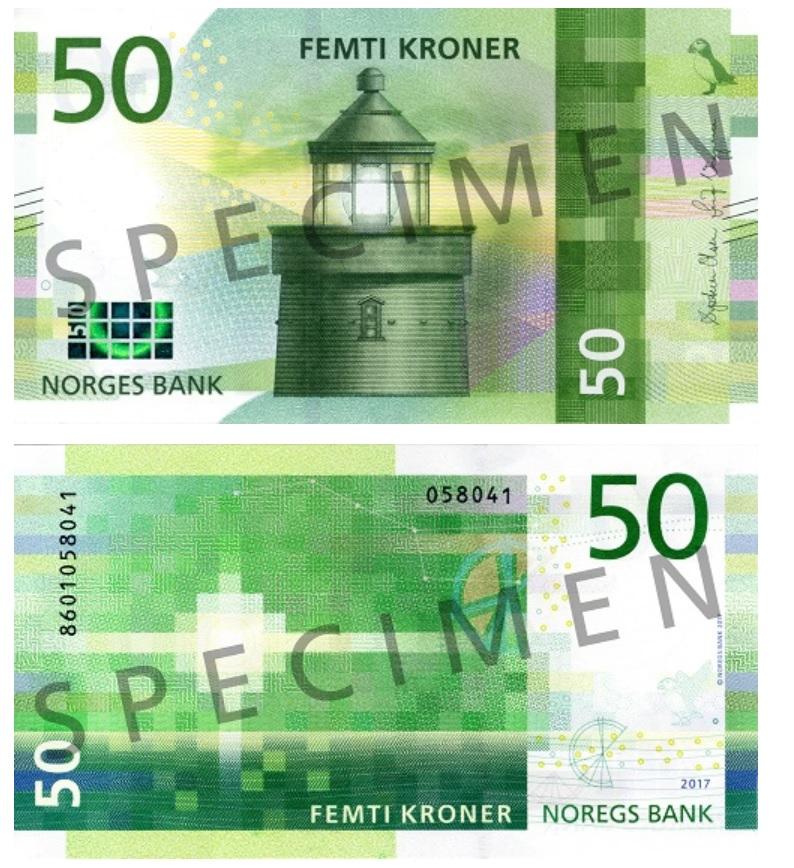 Billete de 50 coronas noruegas