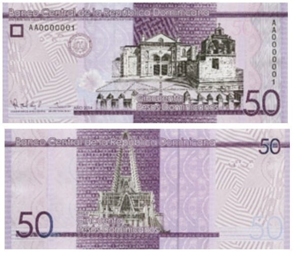 Billete de 50 pesos dominicanos
