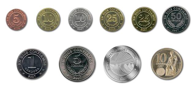 Monedas de córdoba nicaragüense