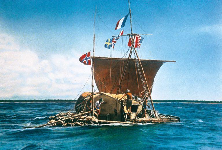 Thor Heyerdahl en su nave