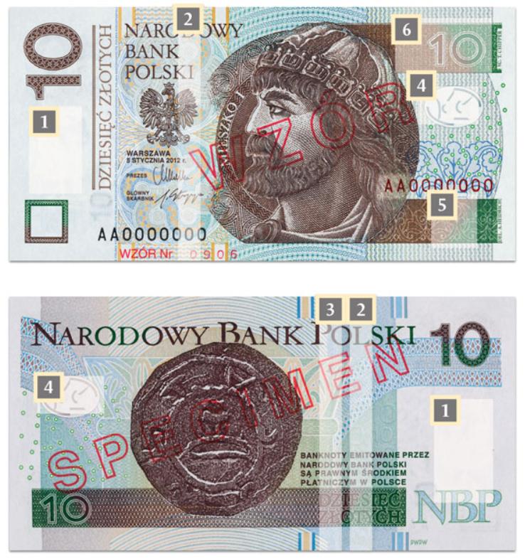 Billete de 10 zlotys polacos