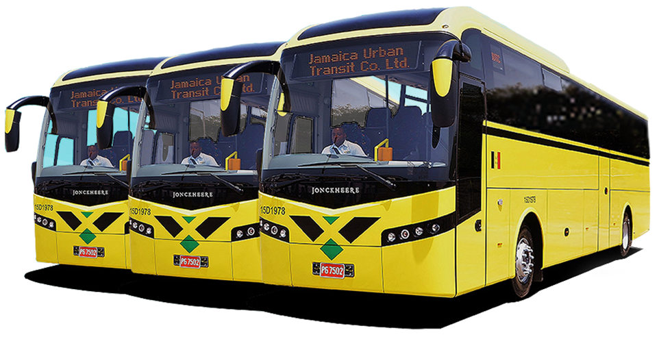 Jamaica Urban Transit Company buses