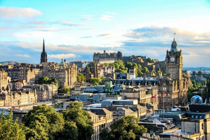 Vista de Edimburgo Escocia
